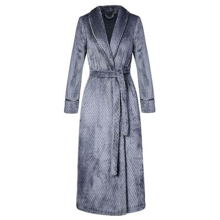 32f714d2e9 AMONIDA AMONIDA Fleece Bathrobe for Women Long Robes Soft Pajamas ...