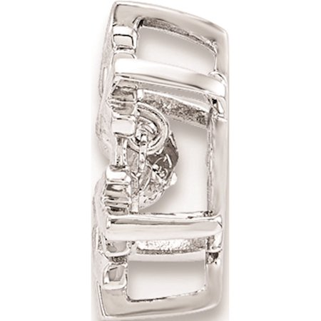 925 Sterling Silver Polished Vibrant CZ Snowflake Pendant / Charm - image 1 de 2