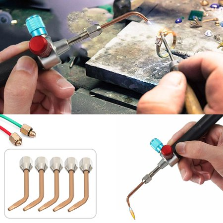 Micro-Gas Torch Mini Gas Little Torch Welding Soldering Kit With 5 Tips - Smith Little Torch