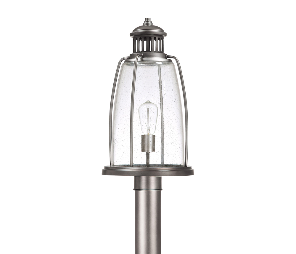 Capital Lighting Harbour Graphite 1 Light Post Lantern by Capital Lighting