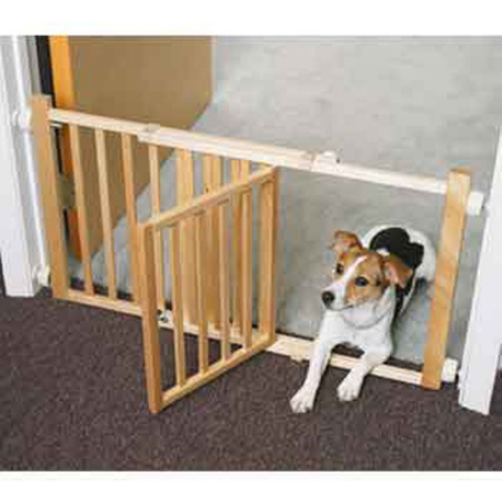 "Four Paws Walk Over Wooden Safety Gate, 30-44""W x 18""H"