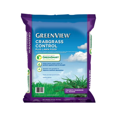 GreenView Crabgrass Control Plus Lawn Food - 13.5 lb. - Covers 5,000 sq. ft.