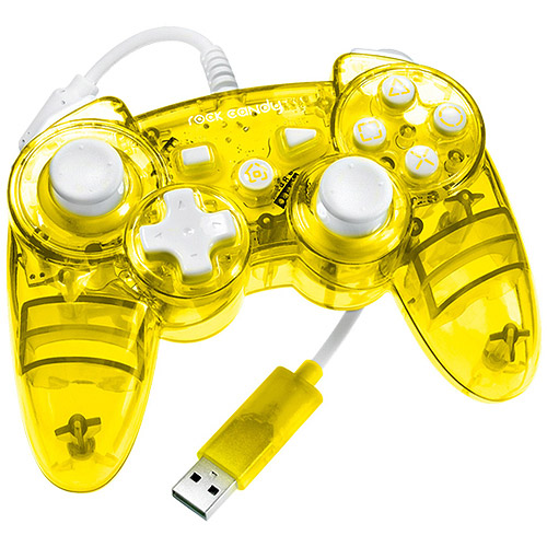 PDP Rock Candy Controller, Yellow (PS3)