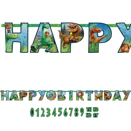 The Good Dinosaur Jumbo Letter Banner - Party Supplies (Banner On The Cheap)