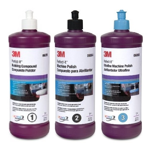 3M Perfect-It Buffing and Polishing Compound Kit (06085/ 06064/ 06068)