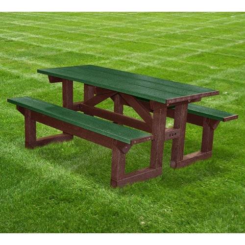 Polly Products Tuff Step Thru Recycled Plastic Picnic Table