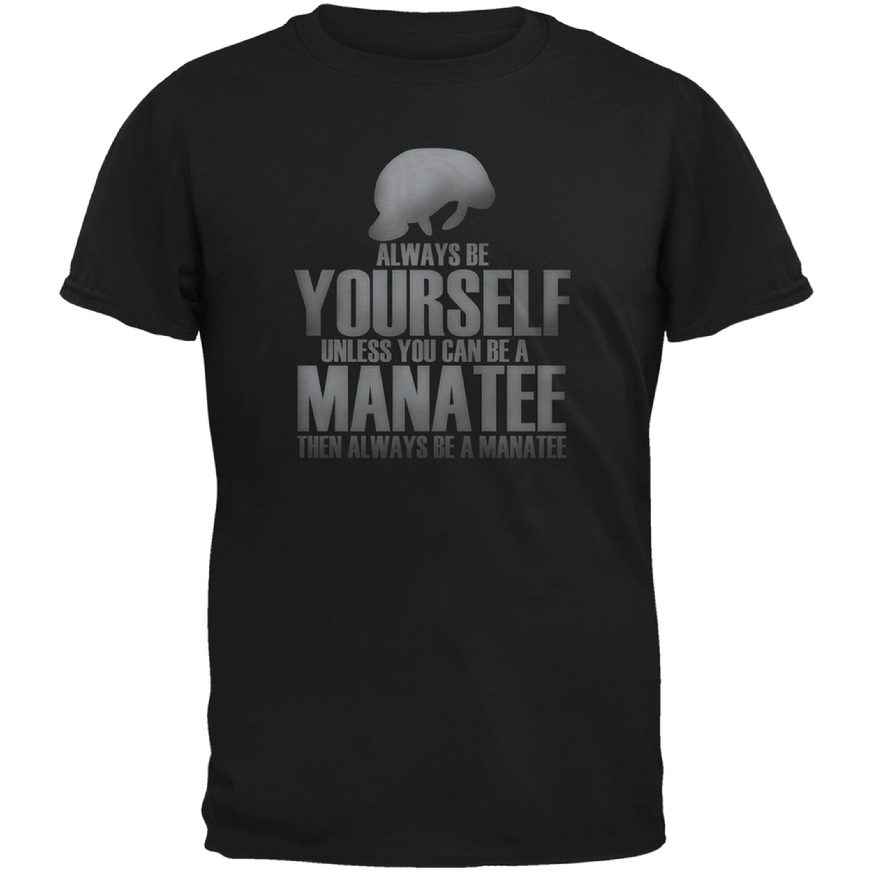 Always Be Yourself Manatee Black Youth T-Shirt