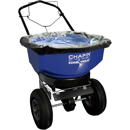 Chapin 80088A 80 Pound Capacity Residential Salt Ice Melt Spreader With Edge Control