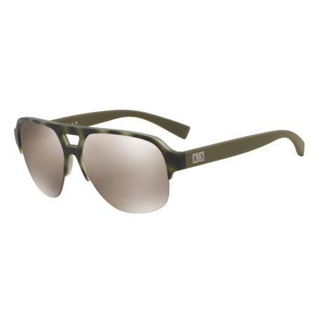 7be9851a34b Armani Exchange - Exchange Armani 0AX4056S Pilot Unisex Sunglasses - Size  59 (Light Brown Mirror Gold) - Walmart.com