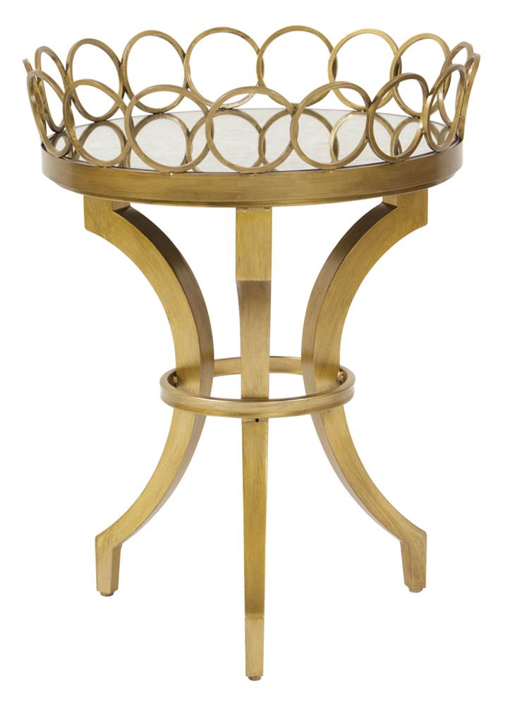 Accent Table with Removable Tray by Howard Elliott Collection