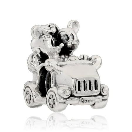 Disney Mickey Round Charm - Disney, Mickey & Minnie Vintage Car Disney Mickey & Minnie ca Charm 797174
