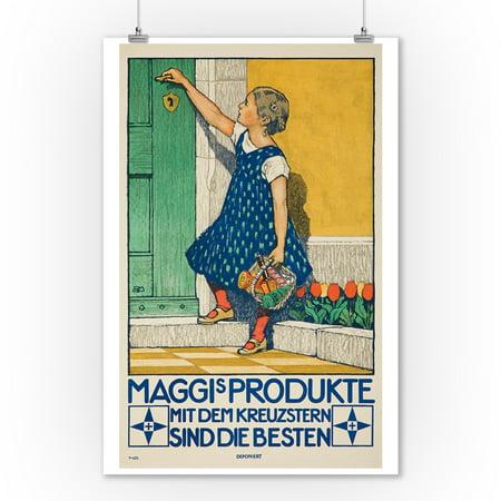 Maggi's Produkte Vintage Poster (artist: Mangold) Germany (9x12 Art Print, Wall Decor Travel Poster) - German Vintage Poster