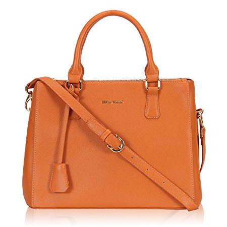 Clasp Satchel Handbag - Hynes Victory Women Classy Satchel Handbag