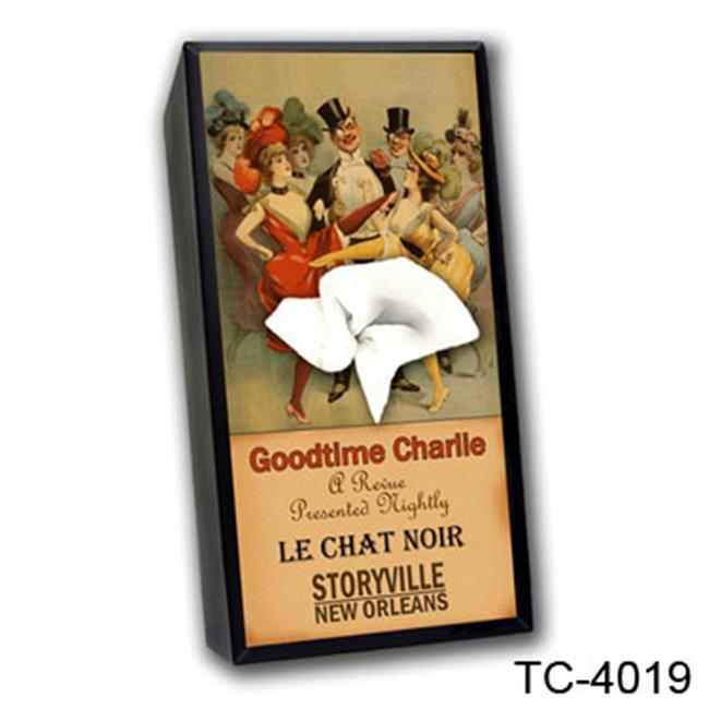 Caravelle Designs TC-4019 Goodtime Charlie Tissue Box Cover
