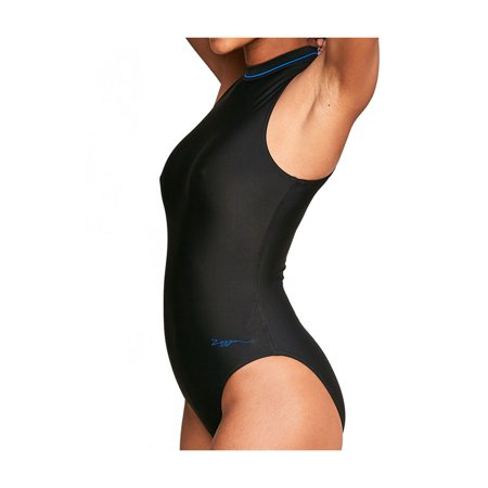 4b6220e213 Zoggs - Zoggs Womens Swimsuits Black Hydrolife Cable Zipped High Neck  Swimsuit - Walmart.com