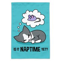 Is It Cat Naptime Yet? Dreaming Garden Yard Flag