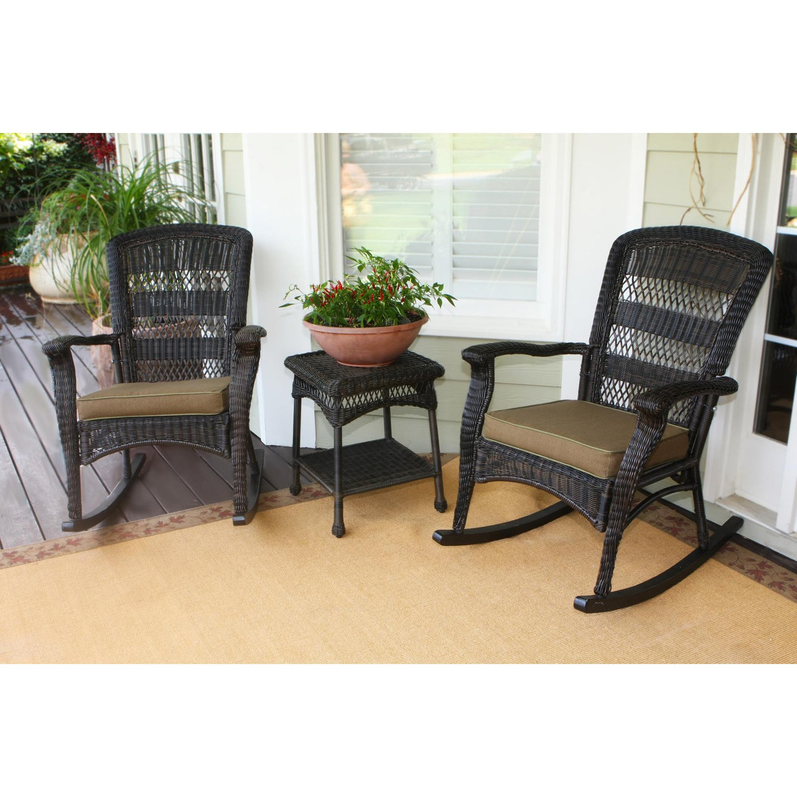 Tortuga Outdoor Portside Plantation 3 pc. Rocker Set
