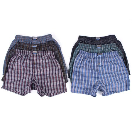 Men's 6 Plaid Boxer Shorts Underwear