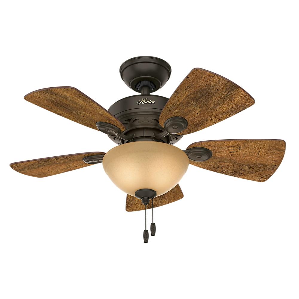 """Hunter 34"""" Watson New Bronze Ceiling Fan with Light"""