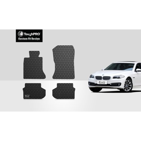 ToughPRO - BMW 528i 1st & 2nd Row Mats - All Weather - Heavy Duty - Black Rubber - 2016 ()