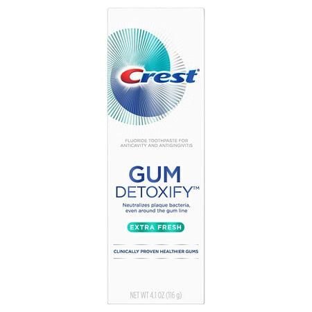 Crest Gum Detoxify Extra Fresh Toothpaste, 4.1 oz each