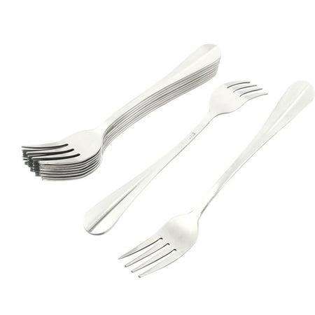 Restaurant Dinner Metal Tableware Flatware Serving Fork 7 Inches Long 10PCS (Tortoise Serving Fork)