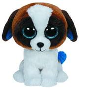 "Duke Brown & White Dog Beanie Boo Medium 10"" - Stuffed Animal by Ty (37012)"