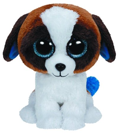 Duke Brown & White Dog Beanie Boo Medium 10