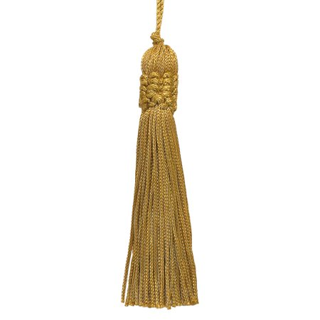 Set of 10 Antique Gold Crown Head Chainette Tassel, 4 Inch Long with 2 Inch Loop, Basic Trim Collection Style# CT04 Color: Gold - C4