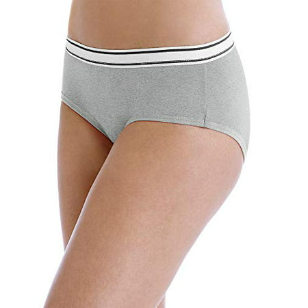Women's Sporty Cotton Hipster Assorted Panties - 6 (Plaid Hipster)