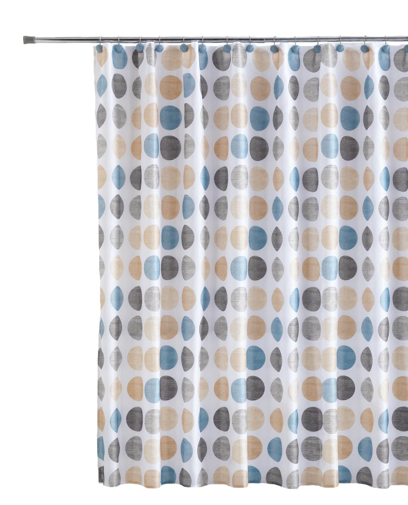 Mainstays Fabric Shower Curtain Decorative Hooks Set 13