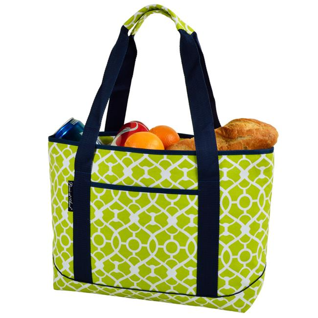 Picnic at Ascot 346-TG Trellis Green Large Insulated Tote - Trellis Green