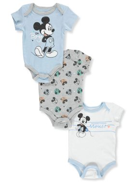 80b7c950d7fd Free shipping on orders over $35. Free pickup. Product Image Disney Mickey  Mouse Baby Boys' 3-Pack Bodysuits