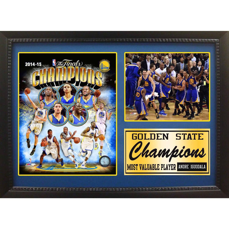 "12"" x 18"" Photo Stat Frame, 2015 NBA Champions Golden State Warriors"