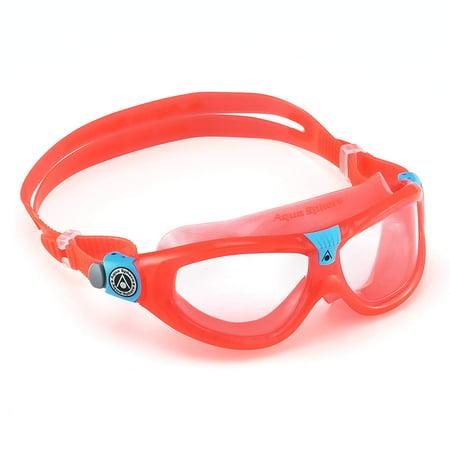 Seal Kid 2 Swim Goggle, Clear Lens / Coral, Mixed, , By Aqua