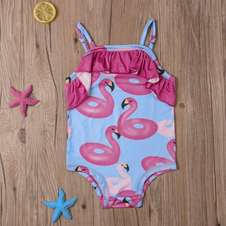 06002cfda1 Gaono - Toddler Kids Baby Girl One Piece Bikini Swimsuit Flamingo Printed  Ruffle Swimwear Sunsuit Beachwear - Walmart.com