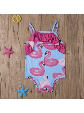 5e6e916c67a20 Product Image Toddler Kids Baby Girl One Piece Bikini Swimsuit Flamingo  Printed Ruffle Swimwear Sunsuit Beachwear