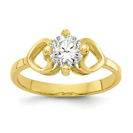 10K Yellow Gold Baby and Children Ring, Size 1 10k Yellow Gold Baby Ring