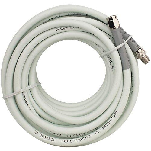 Wilson 955823 Coaxial Cable Extension For Antennas [20ft; Attenuates Signal 2db; Fme-male/sma-male Connectors; White]
