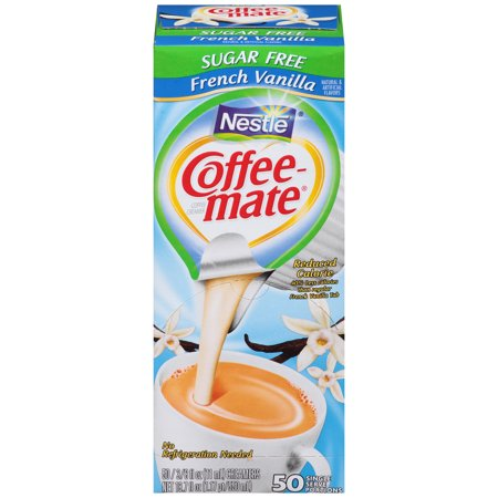 - (2 pack) Nestlé Coffee-mate Sugar Free French Vanilla Liquid Coffee Creamer 50 ct Box
