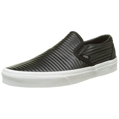 302b02b3f52635 Vans Unisex Classic Slip-On Moto Leather Skate Shoes-Moto Leather-5.5-