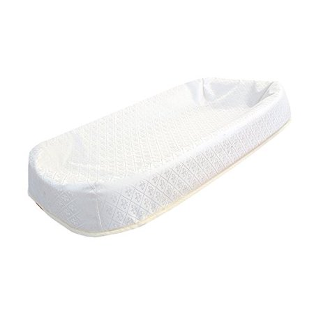"""LA Baby 34"""" 4-Sided Cocoon Style Waterproof Changing Pad with Organic Cotton Layer"""
