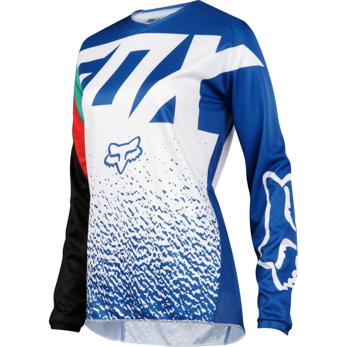 2018 Womens 180 Jersey-Blue-L, The Fox Racing jersey is a perfect fusion of function and style By Fox Racing from USA