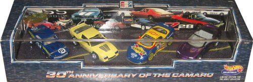 Hot Wheels 30th Anniversary of the Camaro 4 Car Set with 1:64 Scale Collectible Die Cast... by Mattel