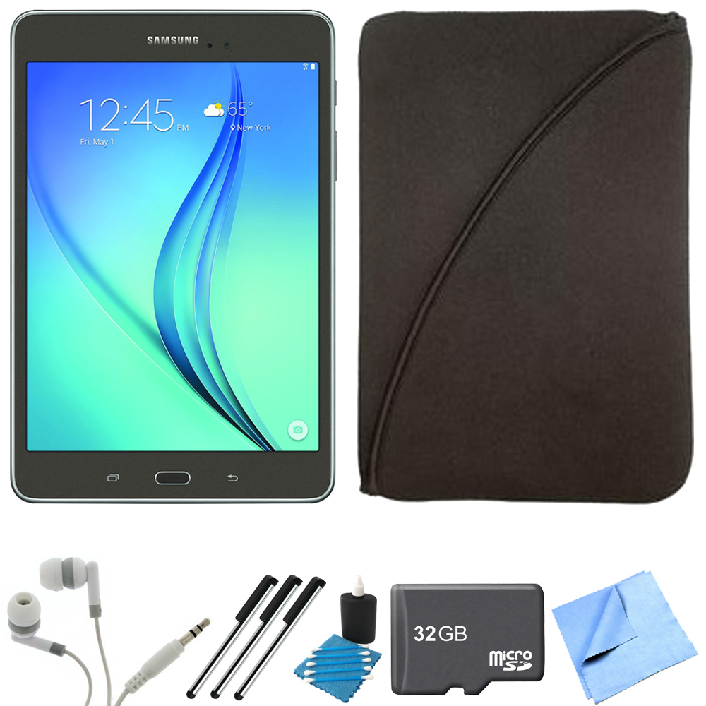 Samsung Galaxy Tab A 8-Inch Tablet (16 GB, Smoky Titanium) 32GB Memory Card