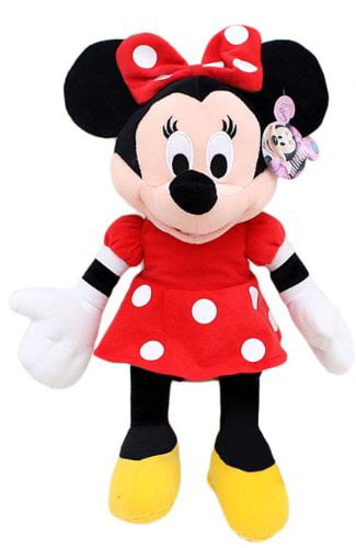 "Plush Disney Minnie Mouse Red Polka Dot Dress 15"" Toy Doll New 105265 by Disney"