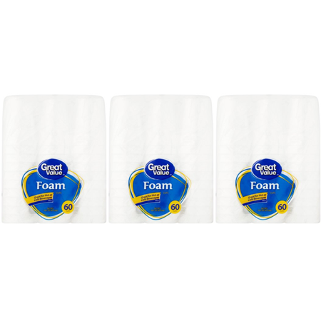 Great Value Foam Cups, 16 oz, 60 Count ()