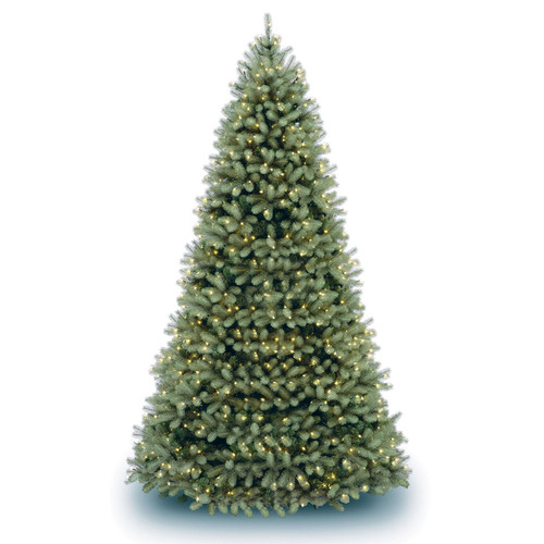 The Holiday Aisle Downswept Douglas Fir 10'' Green Artificial Christmas Tree with Clear Lights with Stand