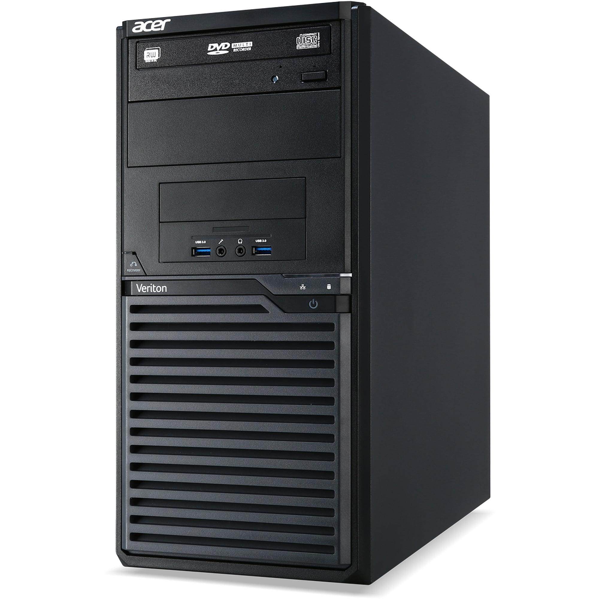 Acer Black Veriton 2 VM2631-i54440X Desktop PC with Intel Core i5-4440 Quad-Core Processor, 4GB Memory, 500GB Hard Drive and Windows 7 Professional (Monitor Not Included)