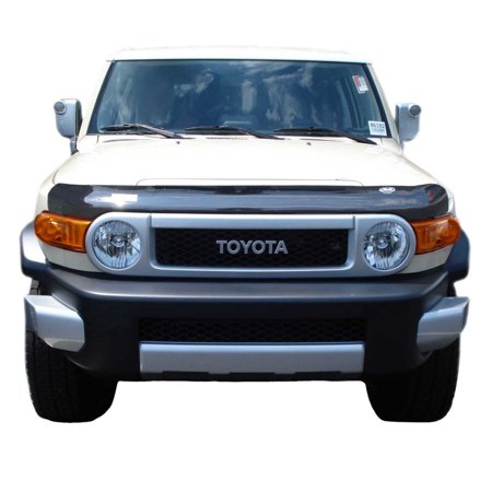 AVS 07-14 Toyota FJ Cruiser High Profile Bugflector II Hood Shield - Smoke